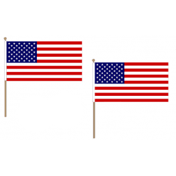 United States of America Fabric National Hand Waving Flag Flags - United Flags And Flagstaffs