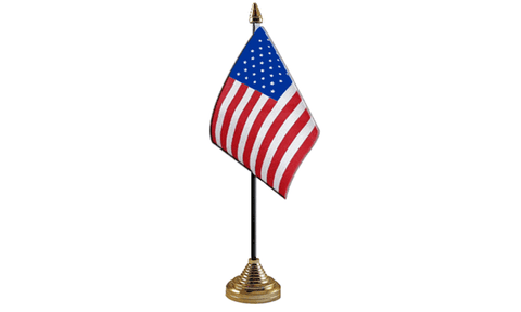 United States of America Table Flag Flags - United Flags And Flagstaffs