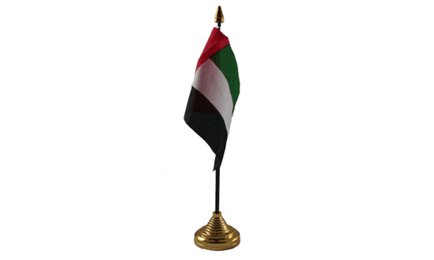 United Arab Emirates Table Flag Flags - United Flags And Flagstaffs