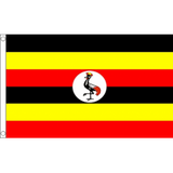 Uganda National Flag - Budget 5 x 3 feet