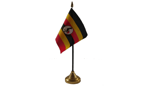 Uganda Table Flag Flags - United Flags And Flagstaffs