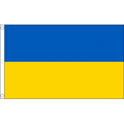 Ukraine National Flag - Budget 5 x 3 feet Flags - United Flags And Flagstaffs