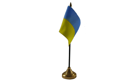 Ukraine Table Flag Flags - United Flags And Flagstaffs
