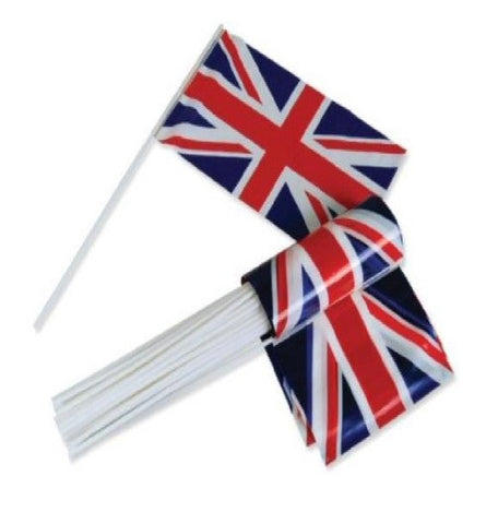 United Kingdom-Plastic Handwavers (20 Pack) Flags - United Flags And Flagstaffs