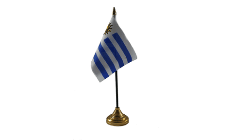 Uruguay Table Flag Flags - United Flags And Flagstaffs