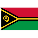 Vanuatu National Flag - Budget 5 x 3 feet Flags - United Flags And Flagstaffs