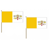 Vatican City Fabric National Hand Waving Flag Flags - United Flags And Flagstaffs