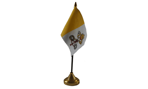 Vatican City Table Flag