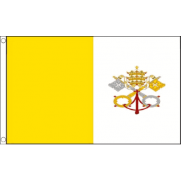 Papal (Vatican City) National Flag - Budget 5 x 3 feet Flags - United Flags And Flagstaffs