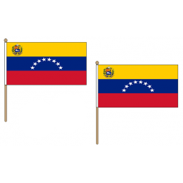 Venezuela Fabric National Hand Waving Flag Flags - United Flags And Flagstaffs