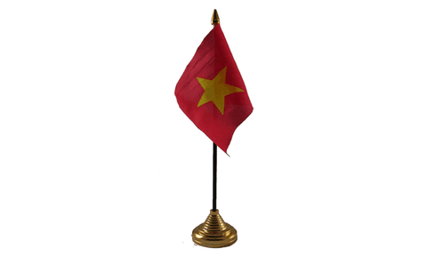 Vietnam Table Flag Flags - United Flags And Flagstaffs