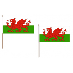 Wales Fabric National Hand Waving Flag Flags - United Flags And Flagstaffs