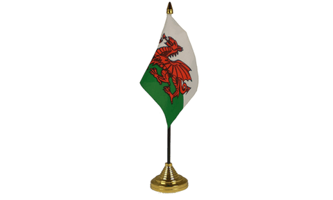 Wales Table Flag Flags - United Flags And Flagstaffs