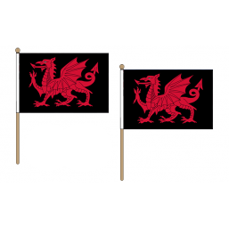 Welsh Dragon Fabric National Hand Waving Flag