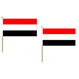 Yemen Fabric National Hand Waving Flag Flags - United Flags And Flagstaffs
