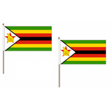 Zimbabwe Fabric National Hand Waving Flag