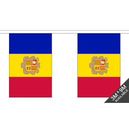 Andorra Flag  - Fabric Bunting Flags - United Flags And Flagstaffs