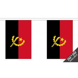 Angola Flag  - Fabric Bunting Flags - United Flags And Flagstaffs