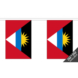 Antigua Flag  - Fabric Bunting Flags - United Flags And Flagstaffs