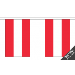 Austria Flag  - Fabric Bunting Flags - United Flags And Flagstaffs