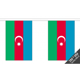 Azerbaijan Flag With Crest - Fabric Bunting Flags - United Flags And Flagstaffs