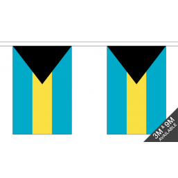 Bahamas Flag With Crest - Fabric Bunting Flags - United Flags And Flagstaffs