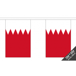 Bahrain Flag - Fabric Bunting Flags - United Flags And Flagstaffs