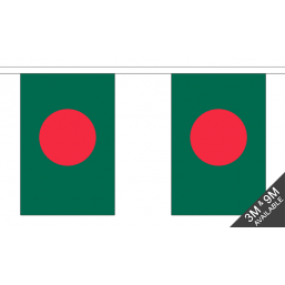 Bangladesh Flag - Fabric Bunting Flags - United Flags And Flagstaffs