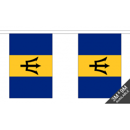 Barbados Flag - Fabric Bunting Flags - United Flags And Flagstaffs