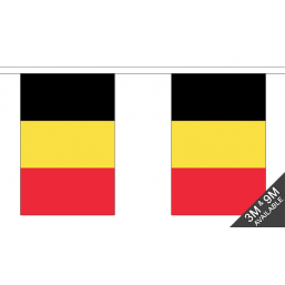 Belgium Flag - Fabric Bunting Flags - United Flags And Flagstaffs