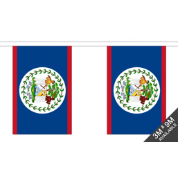 Belize Flag - Fabric Bunting Flags - United Flags And Flagstaffs