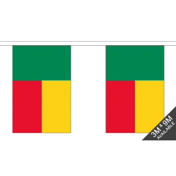 Benin Flag - Fabric Bunting Flags - United Flags And Flagstaffs