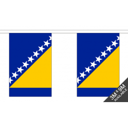 Bosnia & Herzegovina Flag - Fabric Bunting Flags - United Flags And Flagstaffs