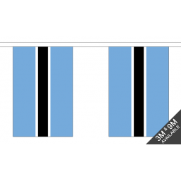 Botswana Flag - Fabric Bunting Flags - United Flags And Flagstaffs