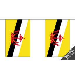 Brunei Flag - Fabric Bunting Flags - United Flags And Flagstaffs
