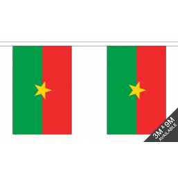 Burkina Faso Flag  - Fabric Bunting Flags - United Flags And Flagstaffs
