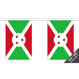 Burindi Faso Flag  - Fabric Bunting Flags - United Flags And Flagstaffs