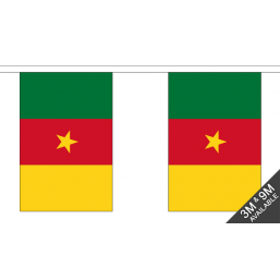 Cameroon Flag  - Fabric Bunting Flags - United Flags And Flagstaffs