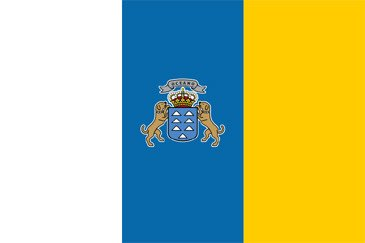Canary Islands (State) National Flag Printed Flags - United Flags And Flagstaffs