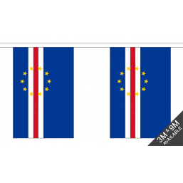 Cape Verdi Flag  - Fabric Bunting Flags - United Flags And Flagstaffs