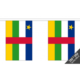 Central African Flag  - Fabric Bunting Flags - United Flags And Flagstaffs