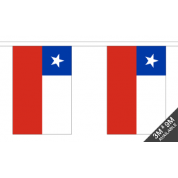 Chile Flag  - Fabric Bunting Flags - United Flags And Flagstaffs