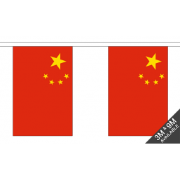 China Flag  - Fabric Bunting Flags - United Flags And Flagstaffs