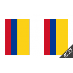 Colombia Flag - Fabric Bunting Flags - United Flags And Flagstaffs
