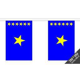 Congo Kinshasa Flag - Fabric Bunting Flags - United Flags And Flagstaffs
