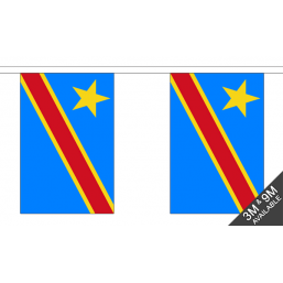 Copy of Congo DR Flag - Fabric Bunting