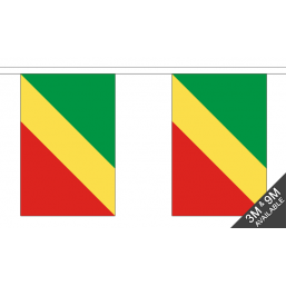 Congo Flag - Fabric Bunting Flags - United Flags And Flagstaffs