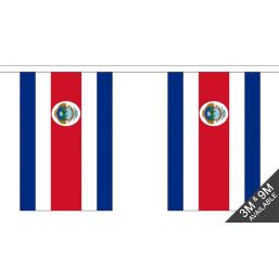 Costa Rica Flag - Fabric Bunting Flags - United Flags And Flagstaffs