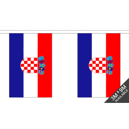 Croatia Flag - Fabric Bunting Flags - United Flags And Flagstaffs