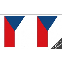Czech Republic Flag - Fabric Bunting Flags - United Flags And Flagstaffs